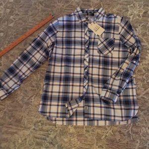 Barbour Sandsend shirt navy plaid US10